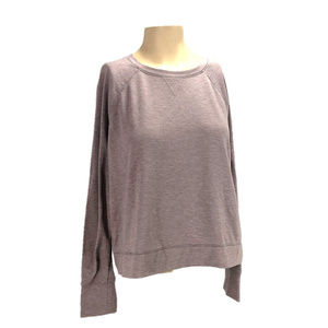 Victoria's Secret Top Purple Heathered Tee Sz S